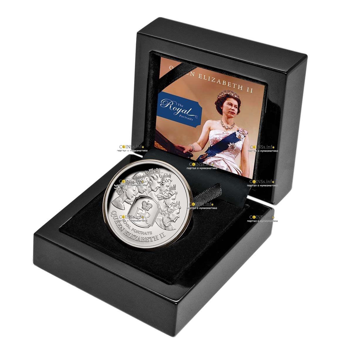 Токелау монета 5 долларов Королевский портрет, подарочная упаковка