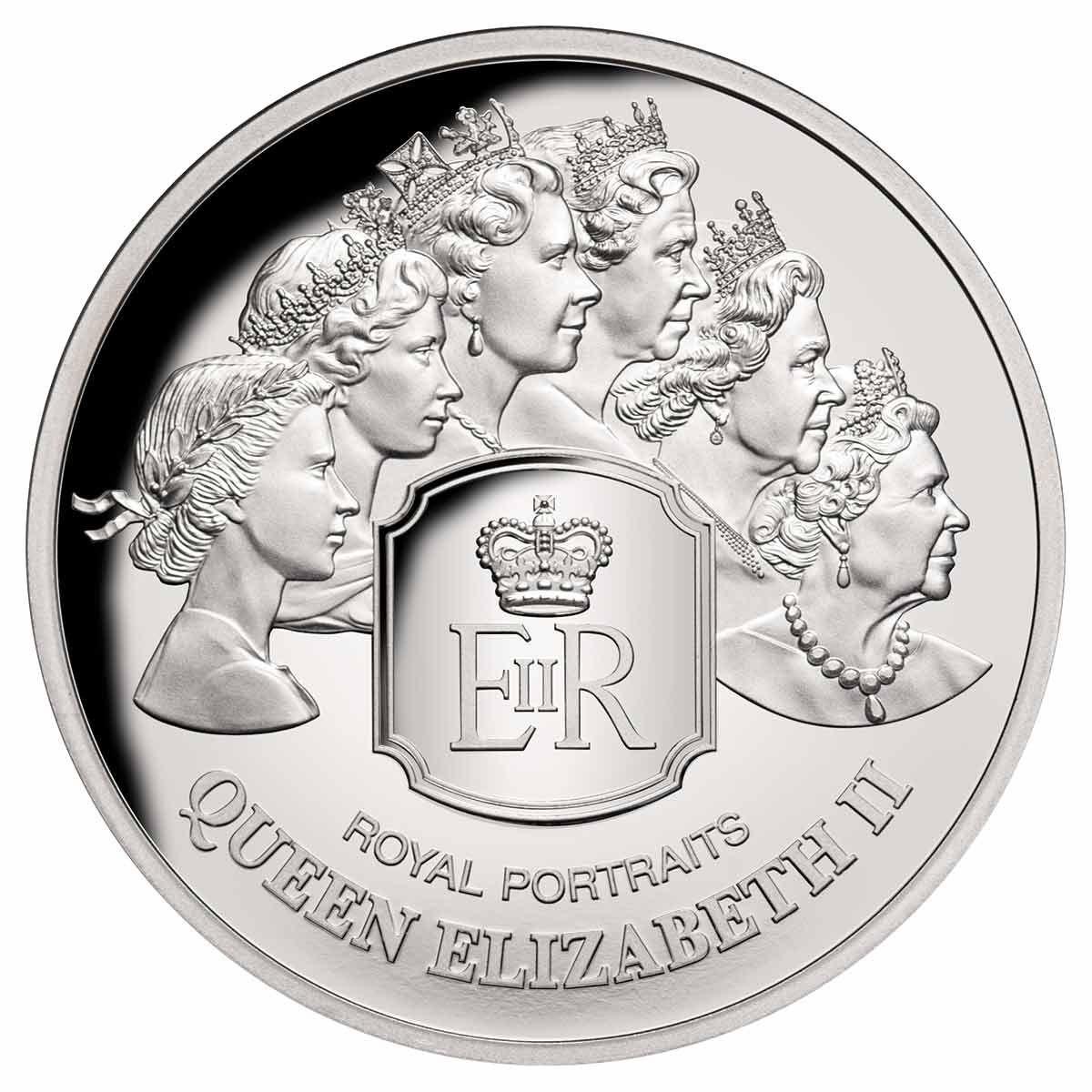 Токелау монета 5 долларов Королевский портрет, реверс