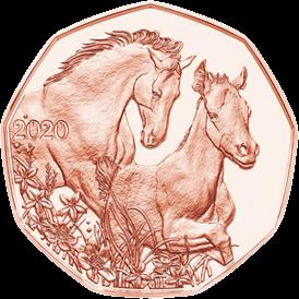 В Австрии монета 5 евро Друзья на всю жизнь, медь, реверс