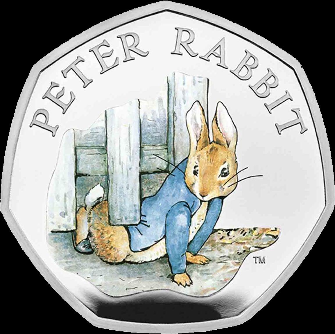 Великобритания монета 50 пенсов Кролик Питер 2020, реверс