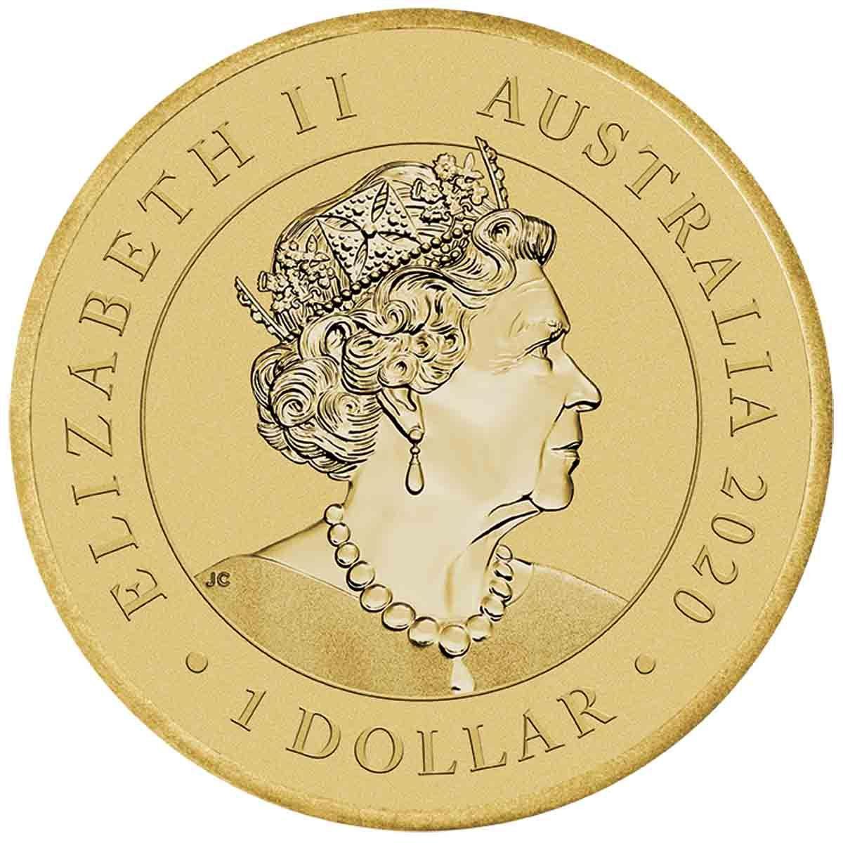Австралия монета 1 доллар Индевор, аверс