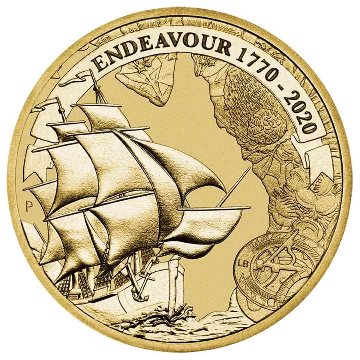Австралия монета 1 доллар Индевор, реверс