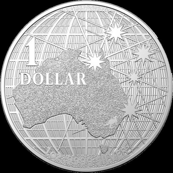 Австралия монета 1 доллар Под южным небом, реверс