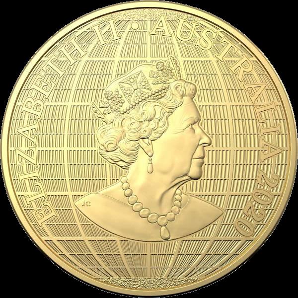 Австралия монета 100 долларов Под южным небом, аверс