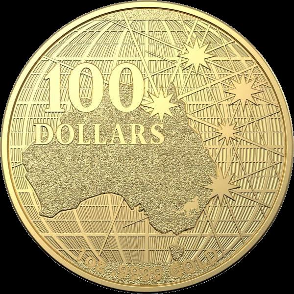 Австралия монета 100 долларов Под южным небом, реверс