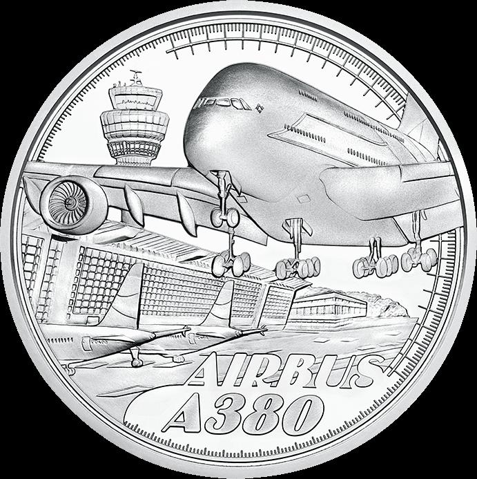 Австрия монета 20 евро Над облаками, реверс
