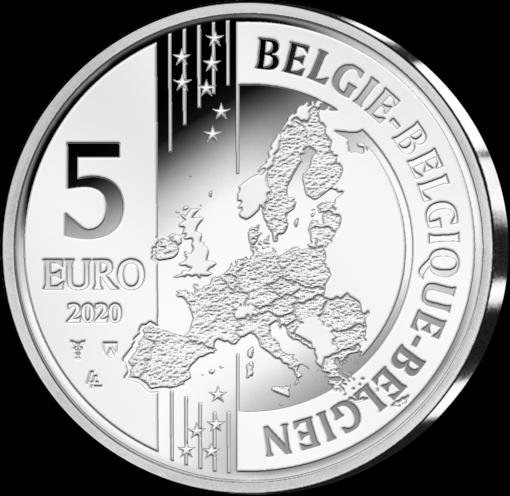 Бельгия монета 5 евро, аверс