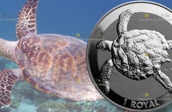 Британская территория в Индийском океане монета 1 ROYAL Черепаха