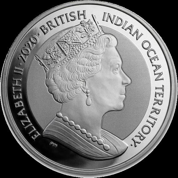 Британская территория в Индийском океане монета 1 ROYAL Черепаха, аверс