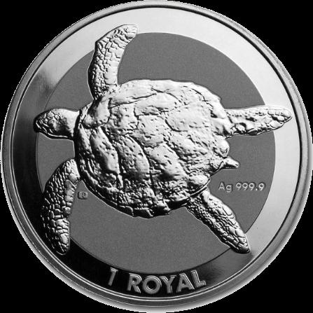Британская территория в Индийском океане монета 1 ROYAL Черепаха, реверс