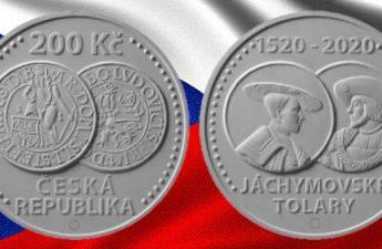 Чехия монета 200 крон Яхимовский толар