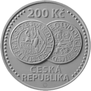 Чехия монета 200 крон Яхимовский толар, аверс