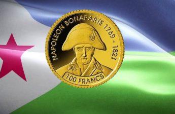 Джибути монета 100 франков Наполеон Бонапарт