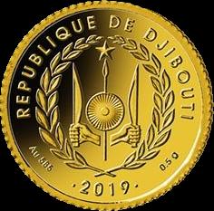 Джибути монета 100 франков Наполеон Бонапарт, аверс