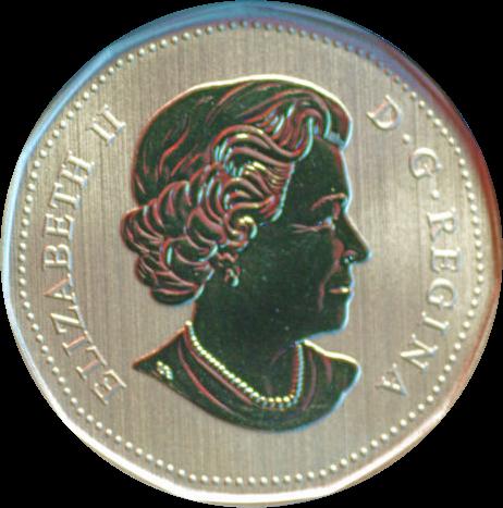 Канада монета 1 доллар Американский хорек, аверс
