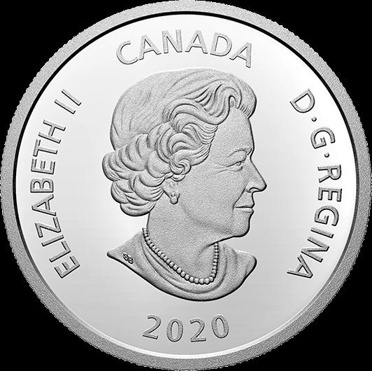 канада монета 20 долларов, аверс, 2020