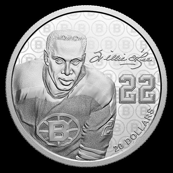 канада монета 20 долларов Вилли О'РИ, реверс
