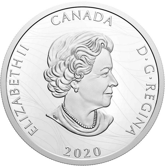 Канада монета 50 долларов Белоголовый орел, аверс