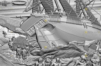 Канада монета 50 долларов Злополучная экспедиция сэра Джона Франклина