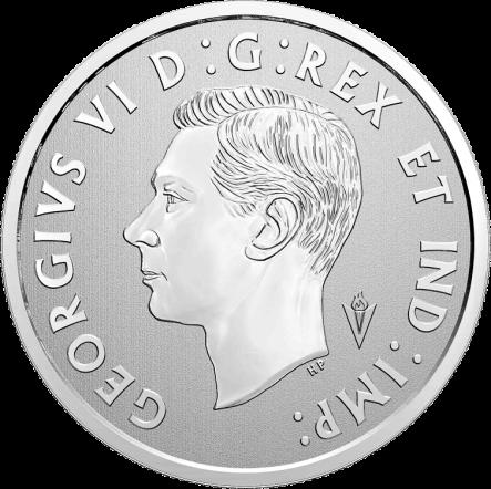 Канада монету 10 долларов 75-летие освобождения Нидерландов, аверс