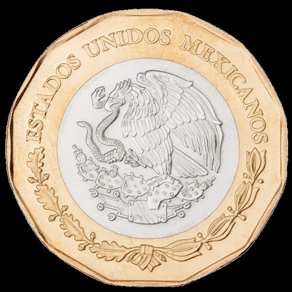 Мексика монета 20 песо, аверс