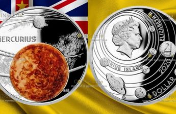 Ниуэ монета 1 доллар Меркурий