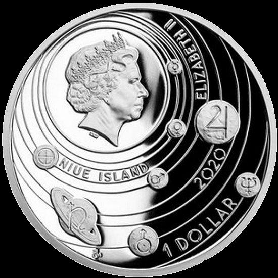 Ниуэ монета 1 доллар Меркурий, аверс