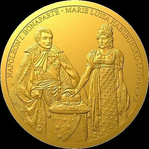 Ниуэ монета 100 долларов Наполеон Бонапарт и Мария Луиза, реверс