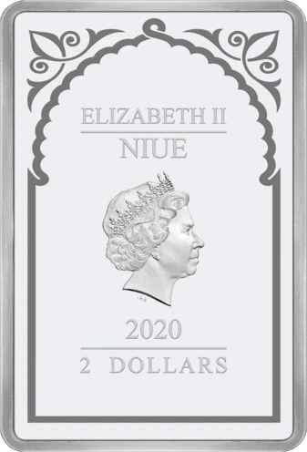Ниуэ монета 2 доллара Архангел Гавриил, аверс