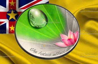 Ниуэ монета 2 доллара Эффект Лотоса