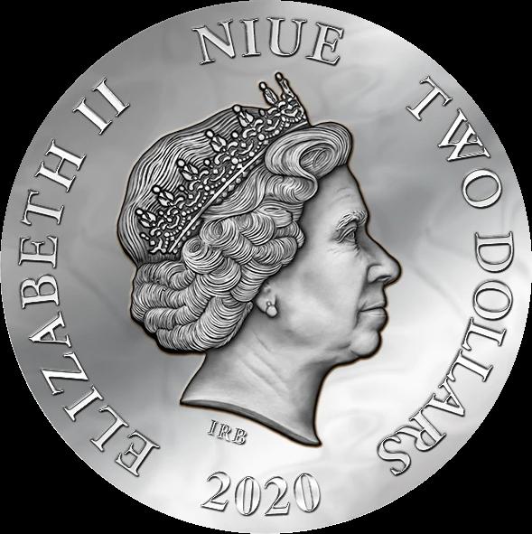 Ниуэ монета 2 доллара Эффект Лотоса, аверс
