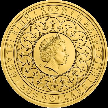 Ниуэ монета 250 долларов Астрономические часы, аверс