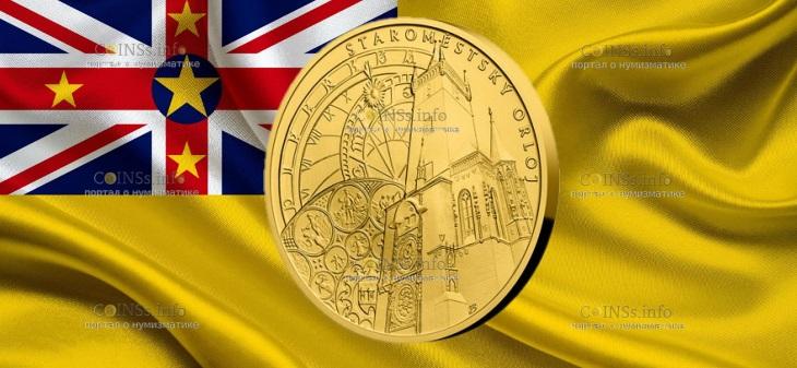 Ниуэ монета 250 долларов Астрономические часы