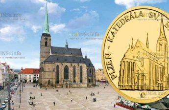 Ниуэ монета 5 долларов Плзень Собор Святого Варфоломея