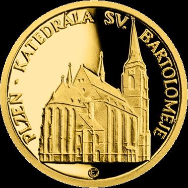 Ниуэ монета 5 долларов Плзень Собор Святого Варфоломея, реверс