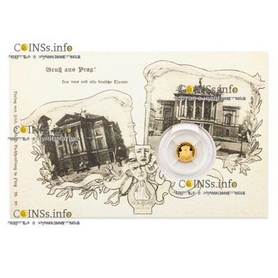 Ниуэ монета 5 долларов Прага - Сословный театр, подарочная упаковка