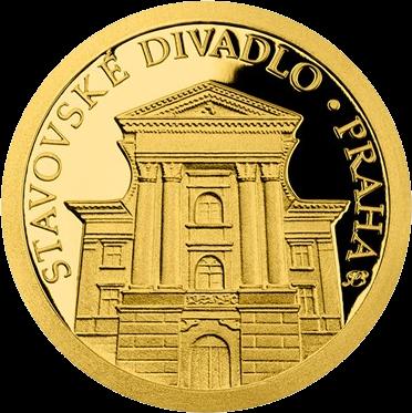 Ниуэ монета 5 долларов Прага - Сословный театр, реверс