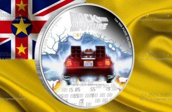 Остров-государство Ниуэ монета 2 доллара Назад в Будущее
