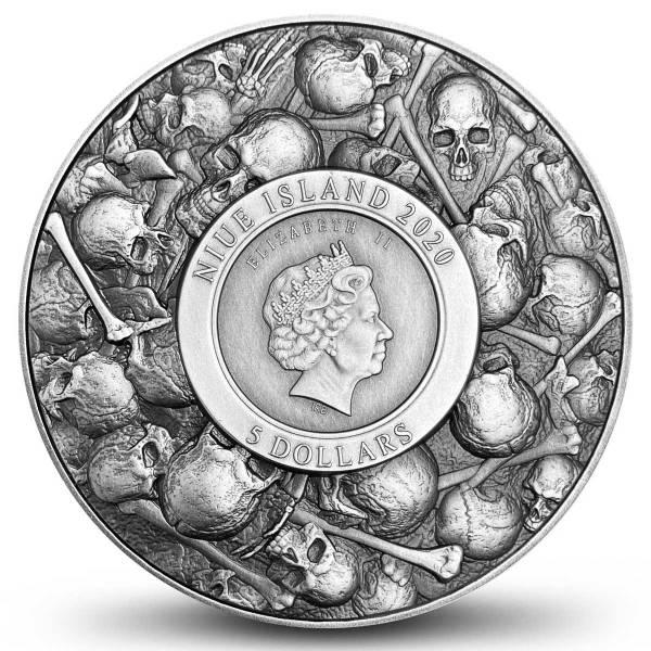 Остров-государство Ниуэ монета 5 долларов Дракула, аверс