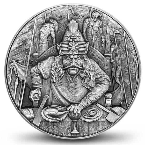 Остров-государство Ниуэ монета 5 долларов Дракула, реверс