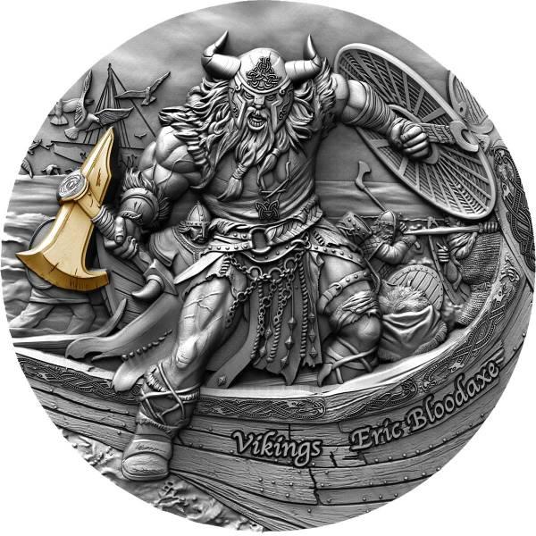 Остров-государство Ниуэ монета 5 долларов Викинги, реверс