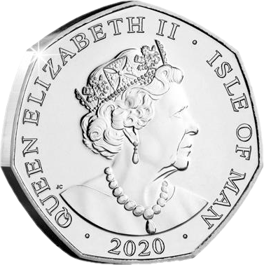 Остров Мэн монета 50 пенсов 2020 год, аверс