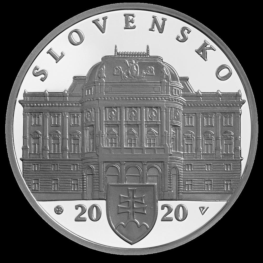 Словакия монета 10 евро Словацкий Национальный Театр, аверс