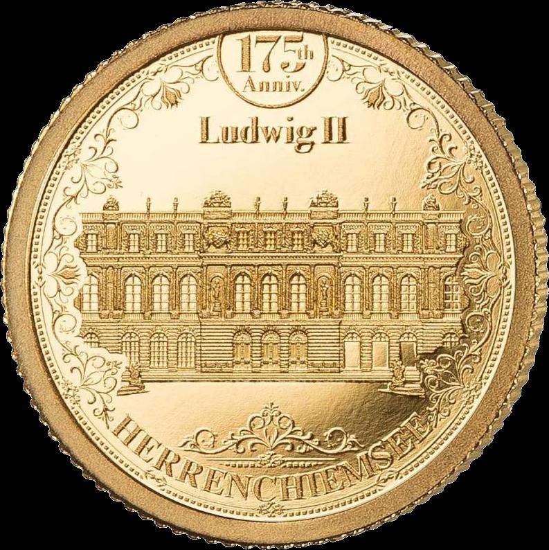 Соломоновы острова монета 10 долларов Дворец Херренкимзе, реверс