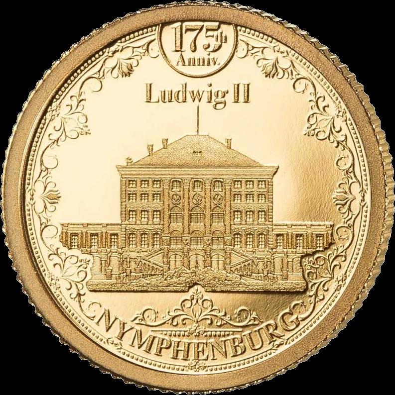 Соломоновы острова монета 10 долларов Дворец Нимфенбург, реверс