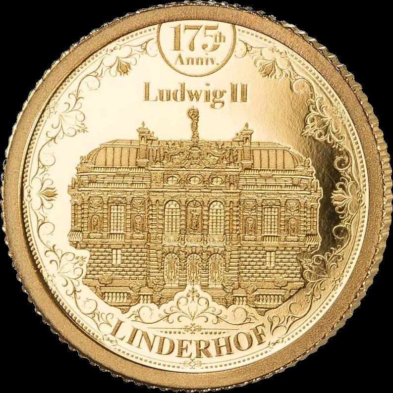Соломоновы острова монета 10 долларов Замок Линдерхоф, реверс