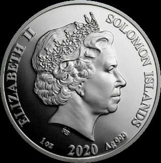 Соломоновы острова монета 3,14 доллара, аверс