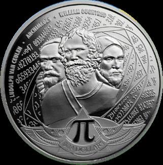 Соломоновы острова монета 3,14 доллара, реверс