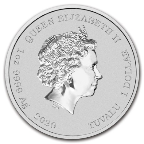 Тувалу монета 1 доллар Джон Уэйн, аверс