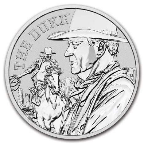Тувалу монета 1 доллар Джон Уэйн, реверс
